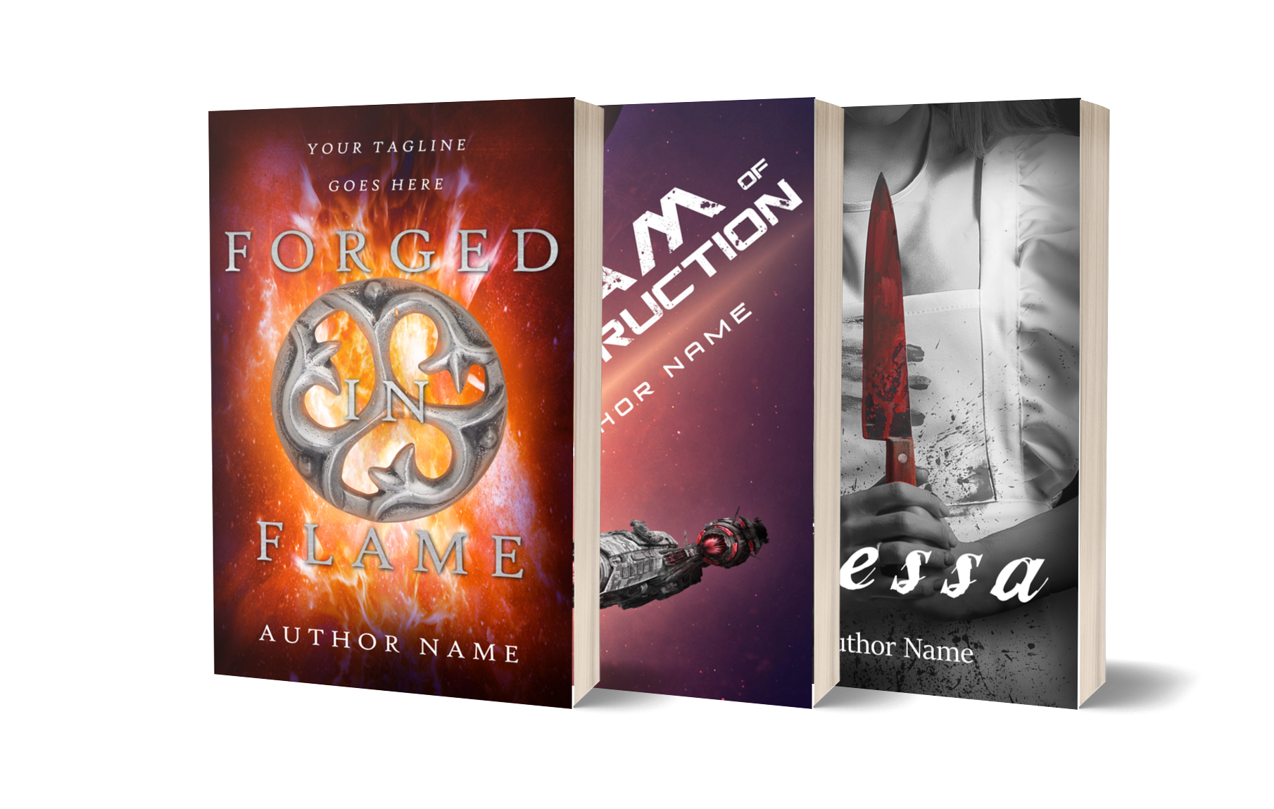 3D book series covers